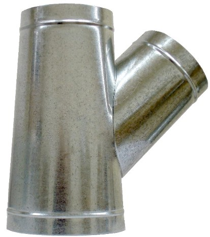 Sheet Metal Duct Fitting Y Branch